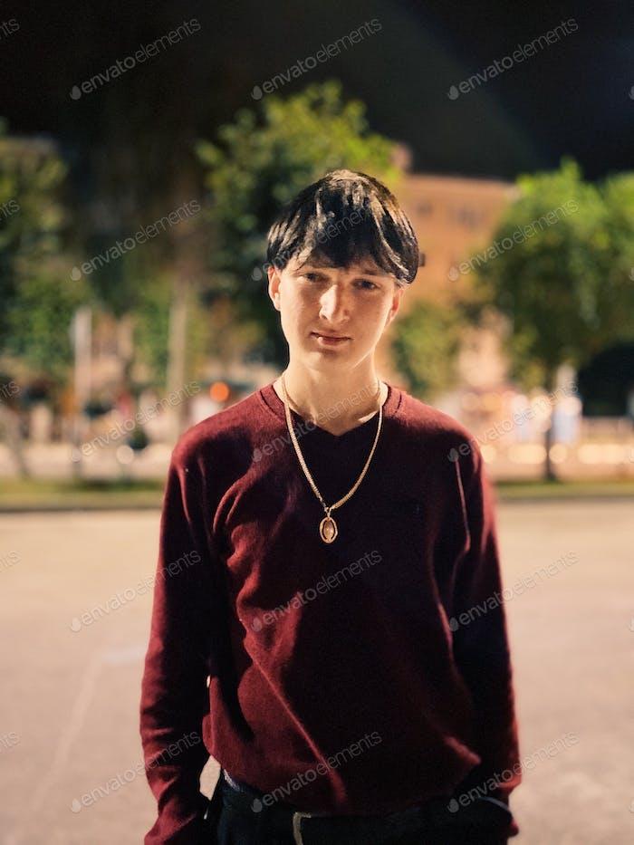 Young man urban portrait