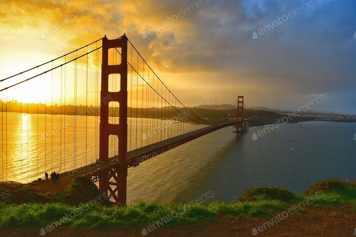 Hora dorada en el Golden Gate