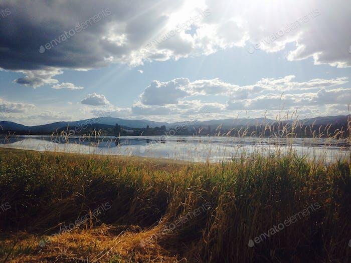An einigen Stellen befindet sich an der Grenze zwischen Idaho und Oregon ein nordamerikanisches Reservat.