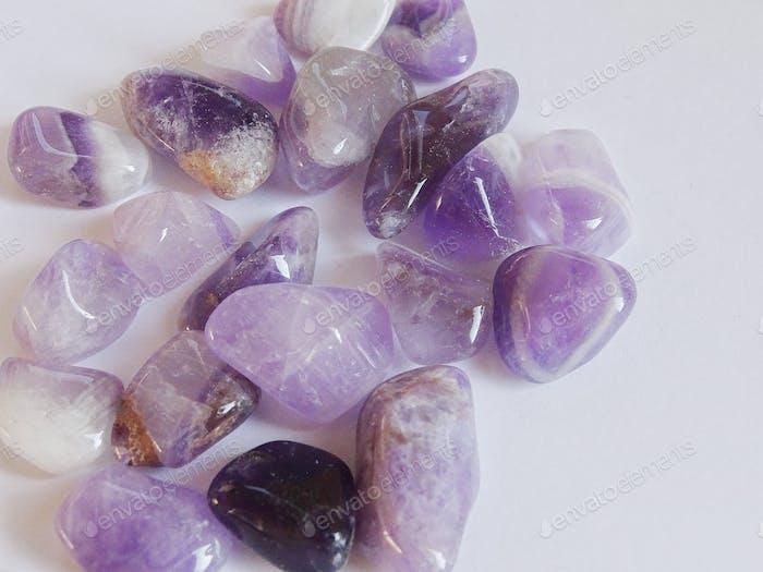 Purple gemstones, amethyst, mineral,
