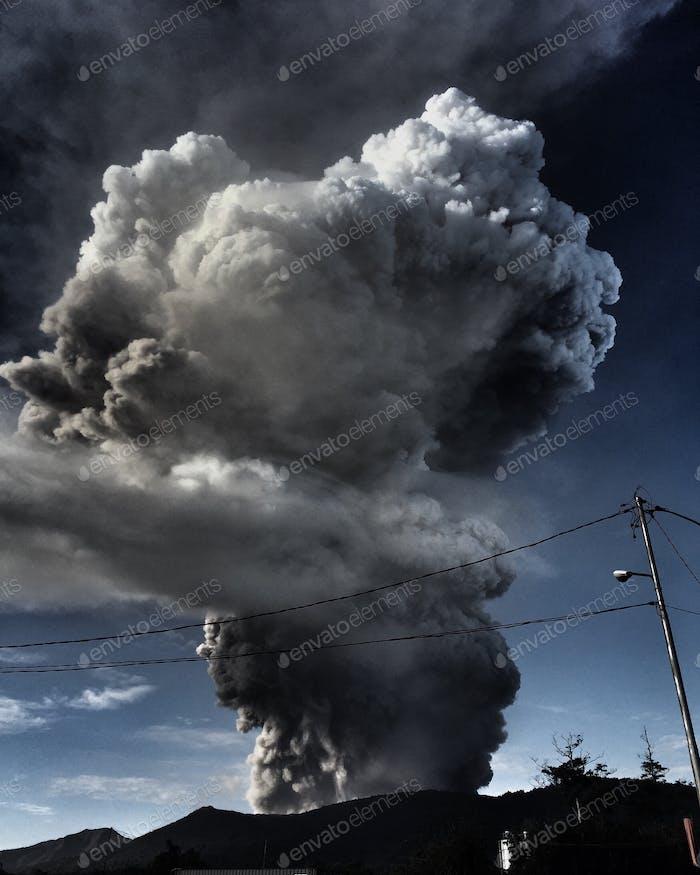 Soputan Volcano Erupts, Minahasa, North Sulawesi - Indonesia