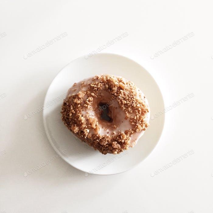 Pecan toffee crunch donut