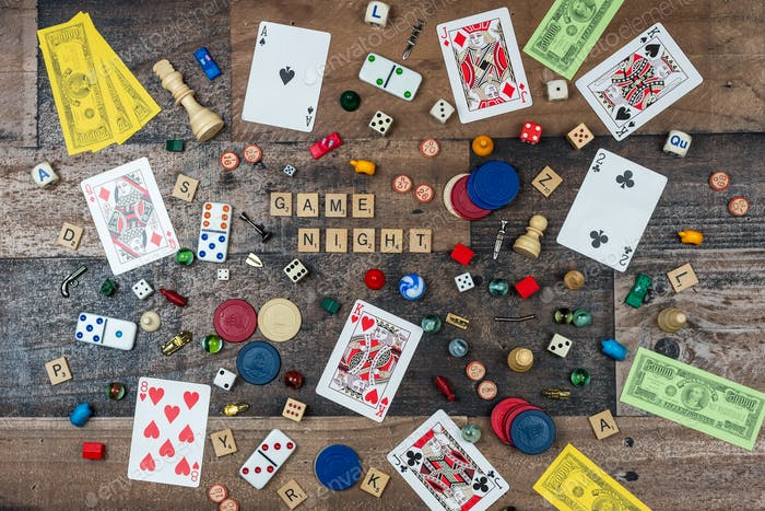 Classic board game pieces