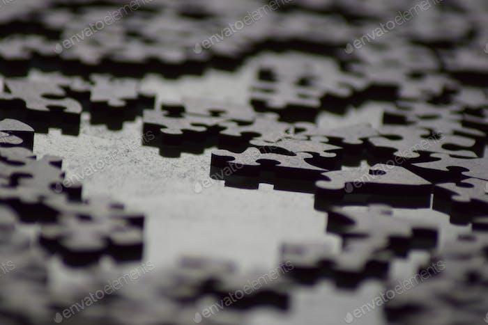 Macro shot of puzzles