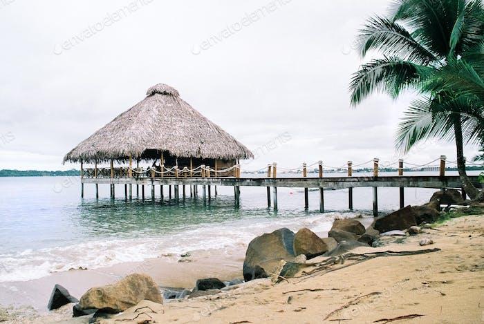 Bocas Del Toro luxurious hotel on a bounty beach