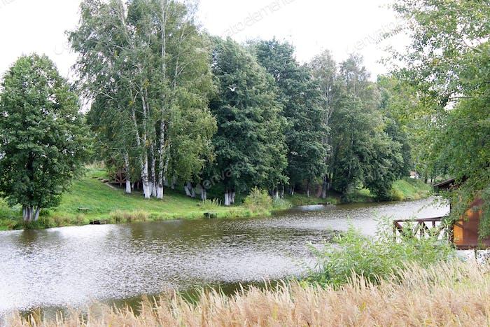 Fishing lodge at the lake