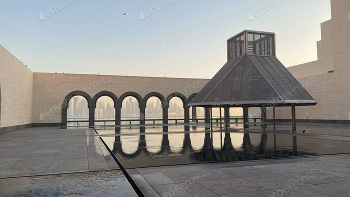 Museum of Islamic Art Architecture Islamic Architecture Arches Reflection Heritage Culture Islam