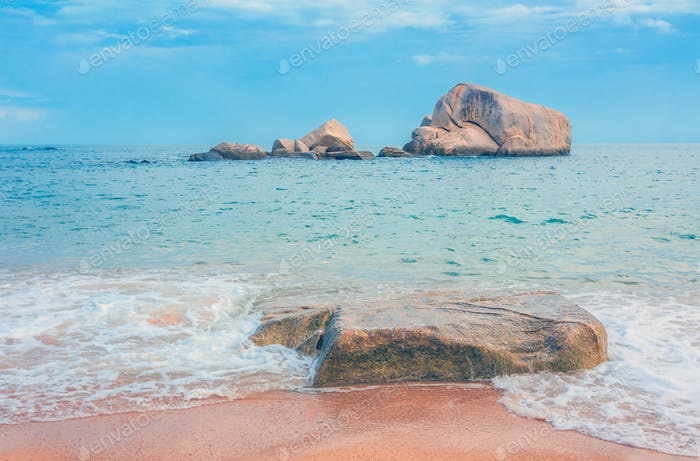 vintage sandy beach