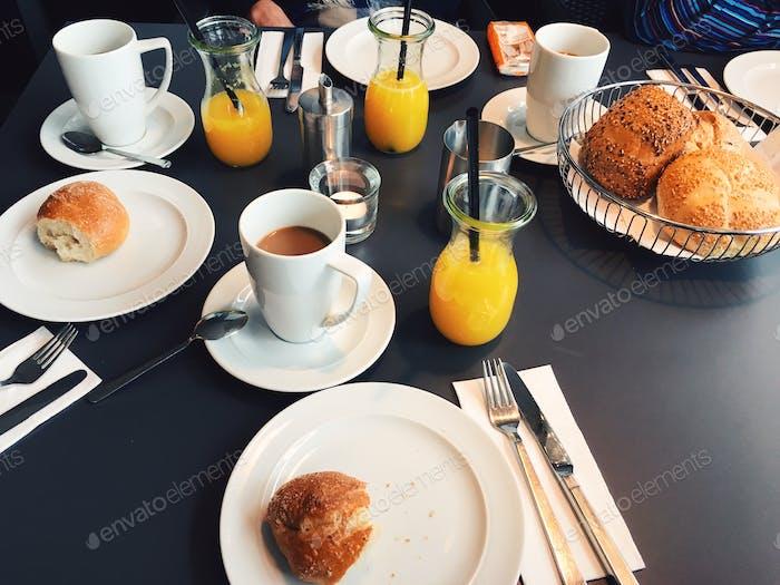 European breakfast.