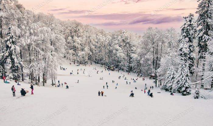 Outdoor activities in winter