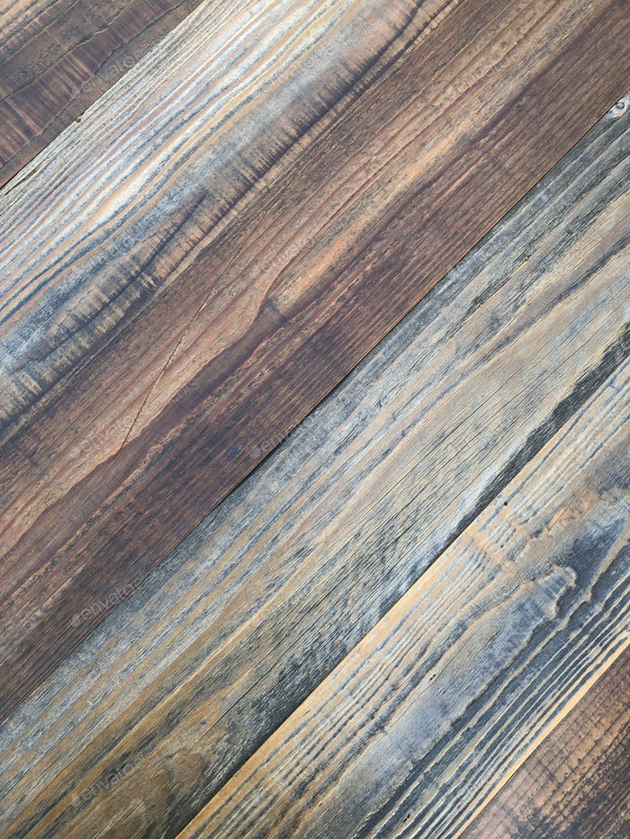 Diagonal rustic reclaimed wood
