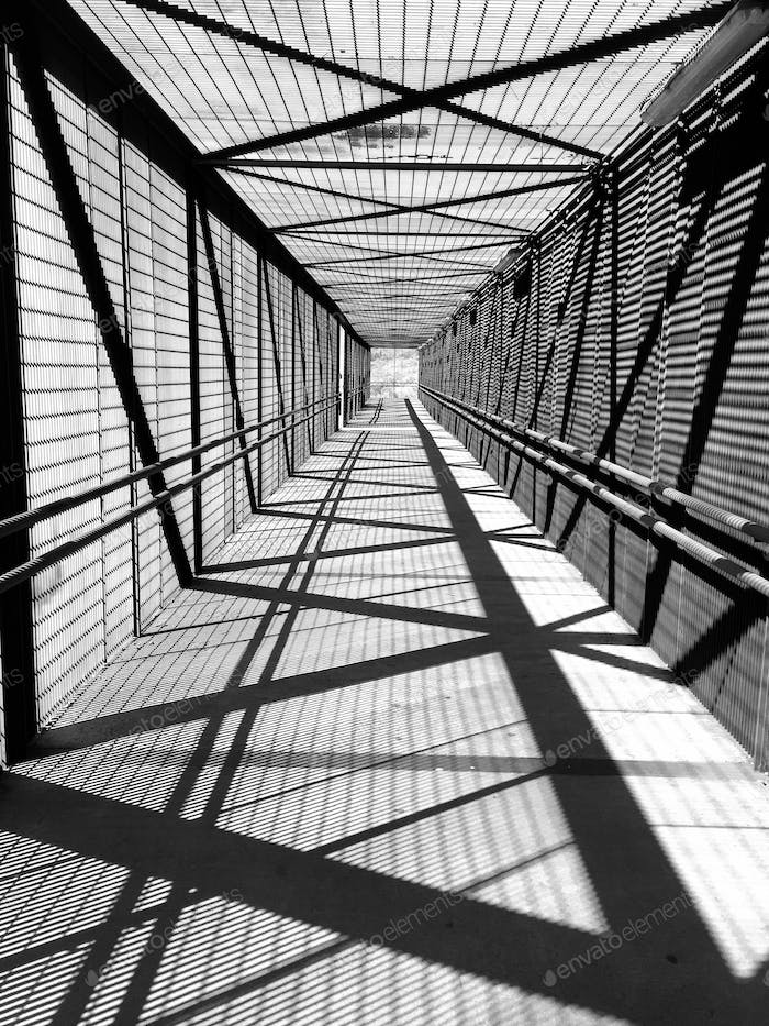 Lines and shadows in my daily commute.