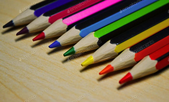 Colour spectrum of Pencils