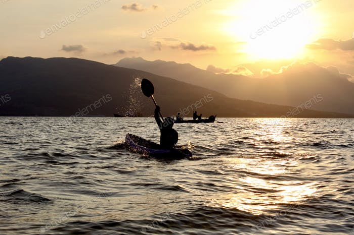 Intense Kayaking in the Bay
