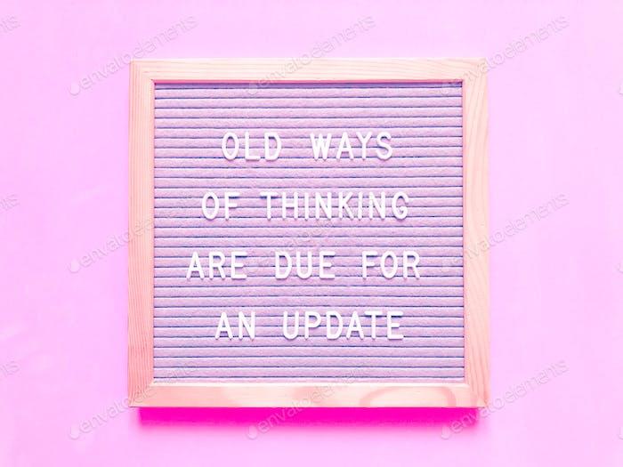 Message board quote