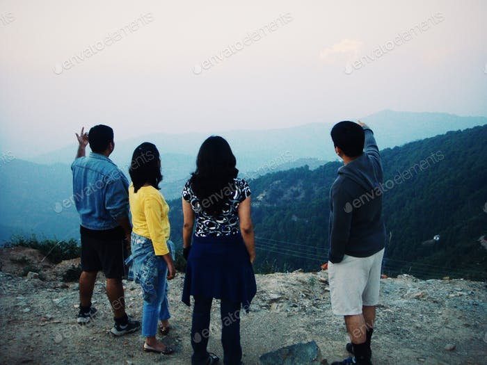 Nature and People. Picture taken while my office team excursion to Nainital, India.