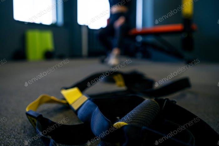 Hinge trx on the floor