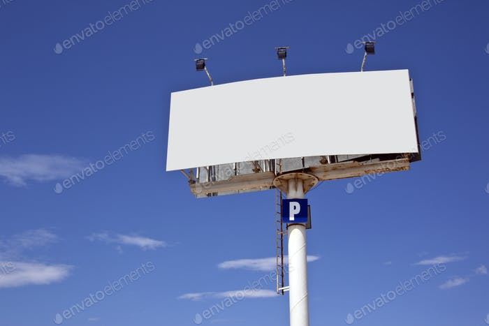 Advertising sign - Blank space for text