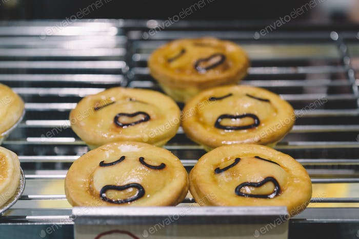 Smile face pie
