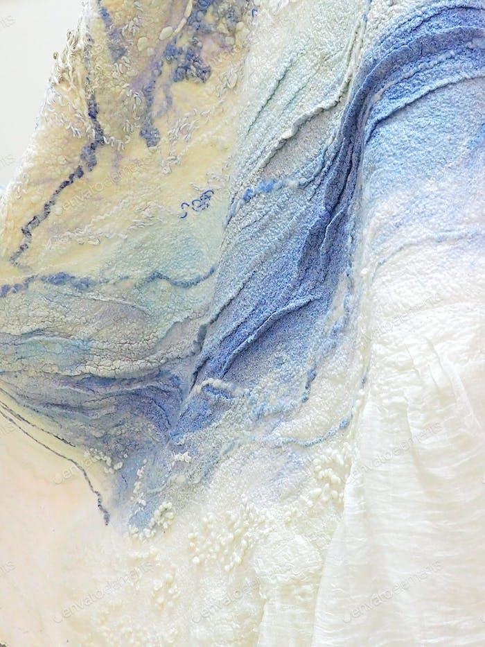 Nominiert!! Die Textur der gefilzten Wolle, handgefertigt