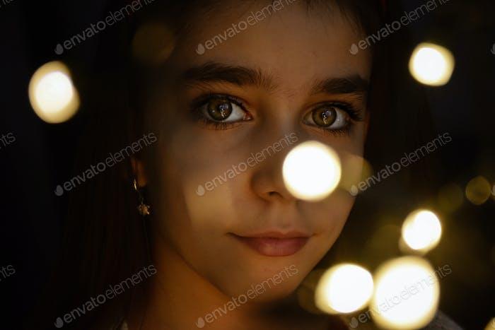 Portrait with bokeh light