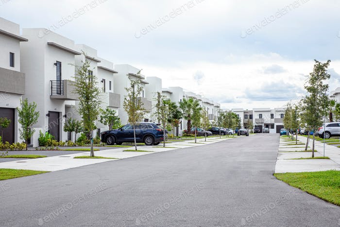 Modern condo community of apartment in Florida