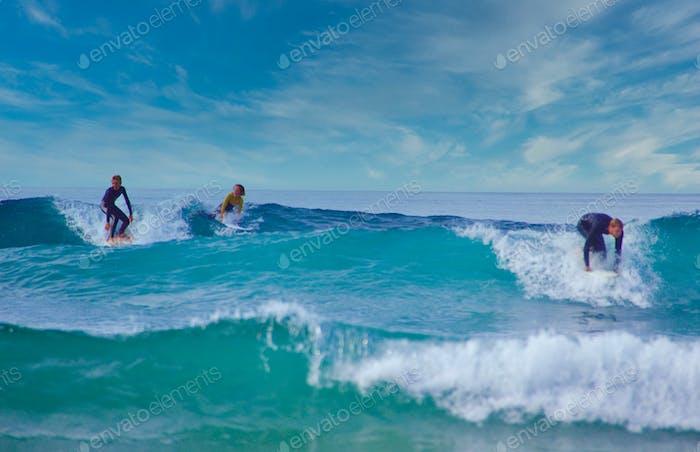 Kids riding waves! Cowabunga dude!  Tony Andrews Photography Tonythetigersson