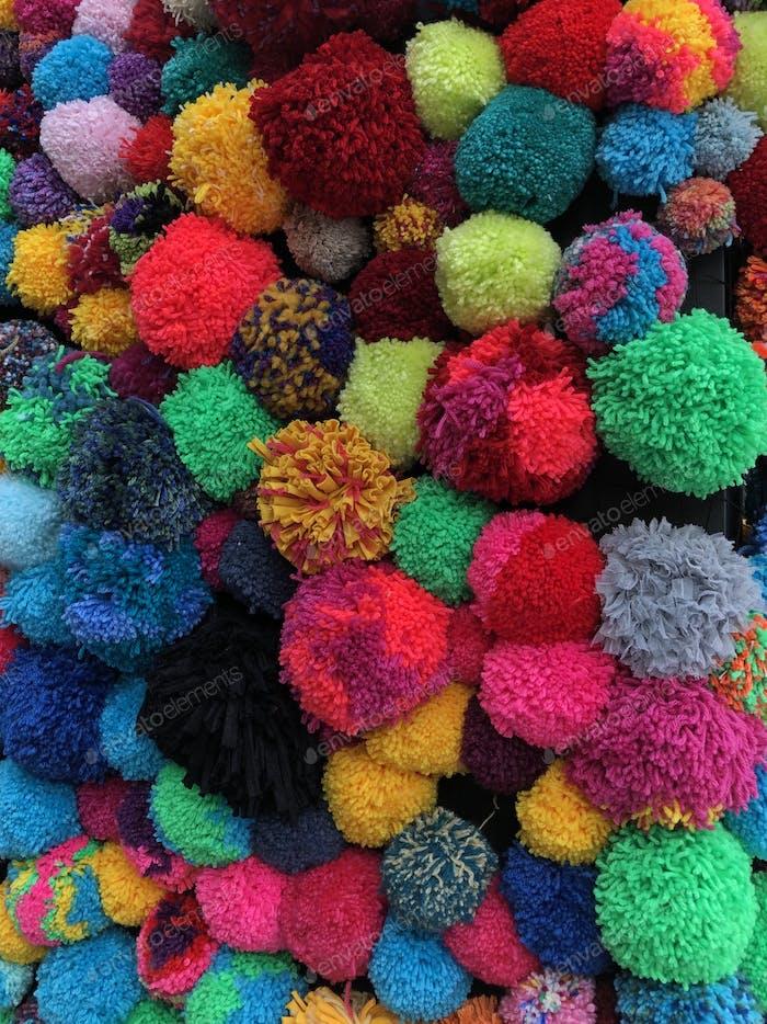Colourful Pompoms