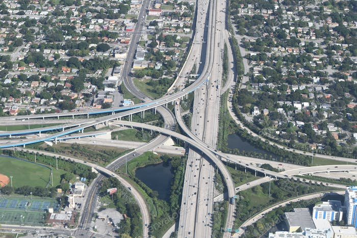Freeway and traffic systems from the sky