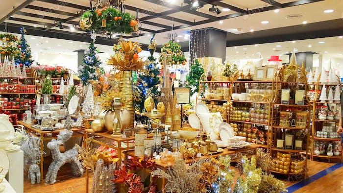 Weihnachtszeit Gruß im Einkaufszentrum