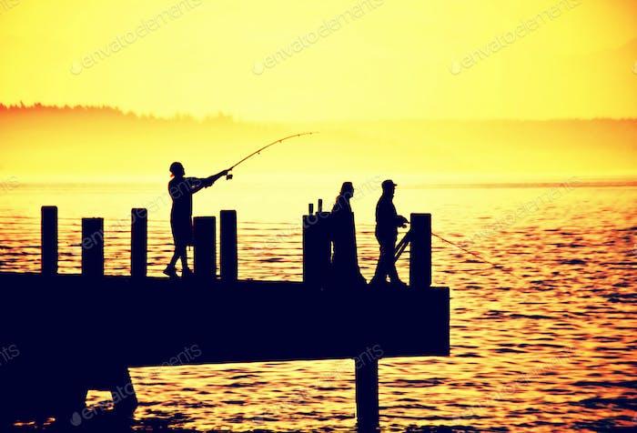 Alki Beach Fishermen