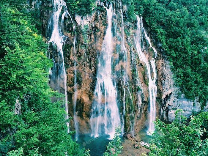 Waterfall. Croatia