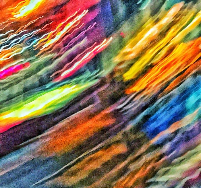 Farbe gestreift schöne Kunst Unschärfen der gezackten Farbe Unbeabsichtigte Fotografie Diagonale Striche