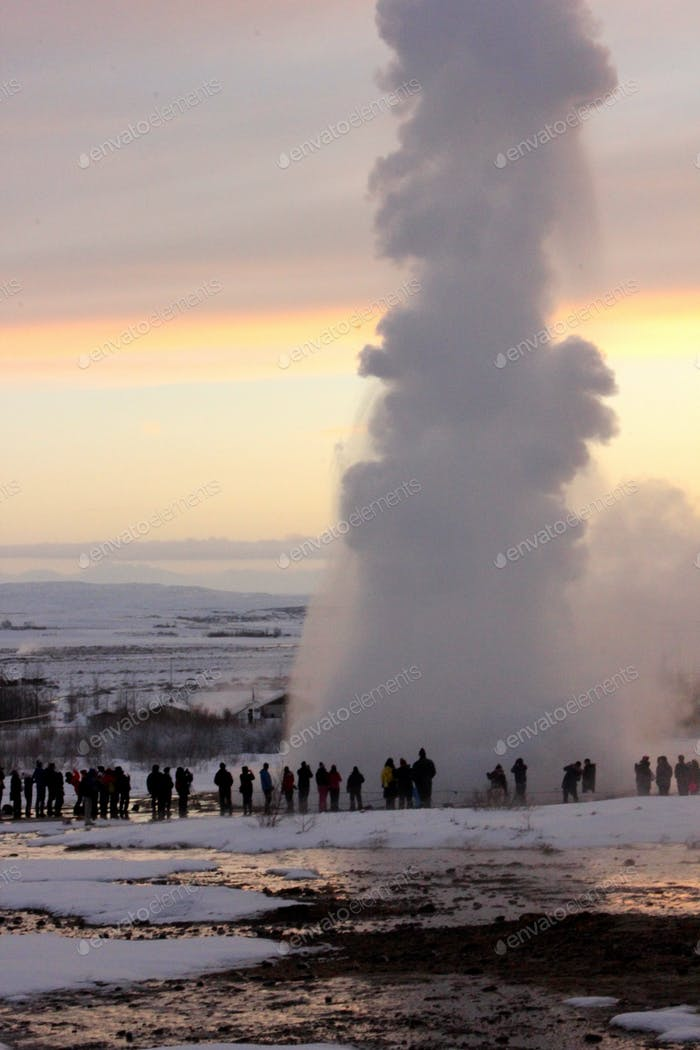 A geyser called Geysir in Iceland