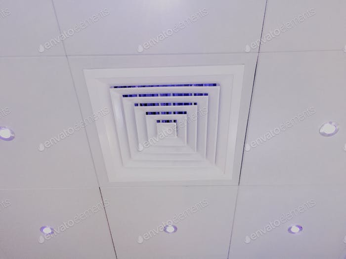 Ceiling AC vent.. White and clean 😀
