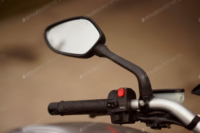 A motorbike's mirror