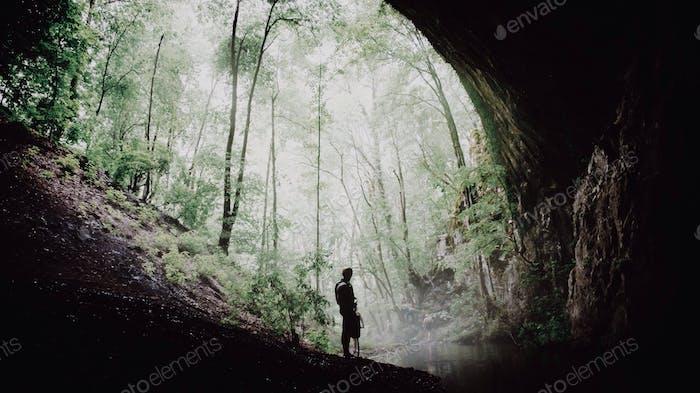 Exploring caves!
