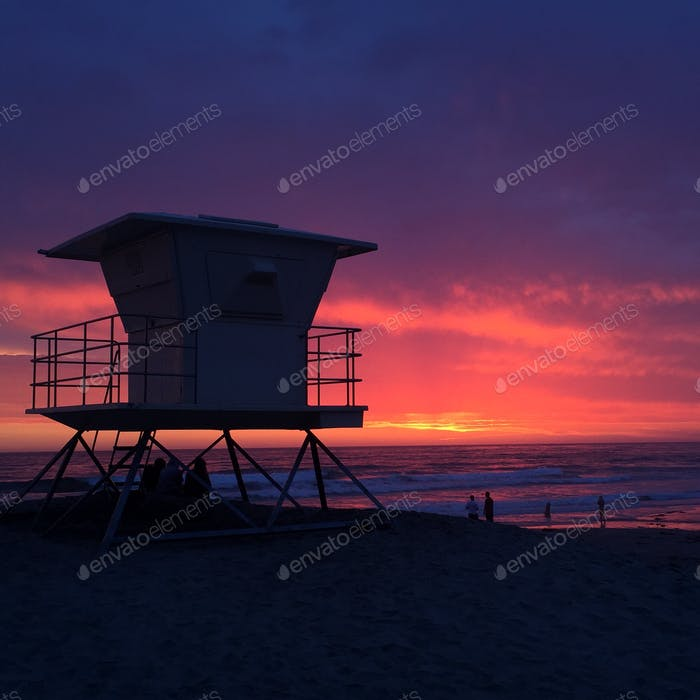 One of the many beautiful sunsets as seen in San Diego, California.