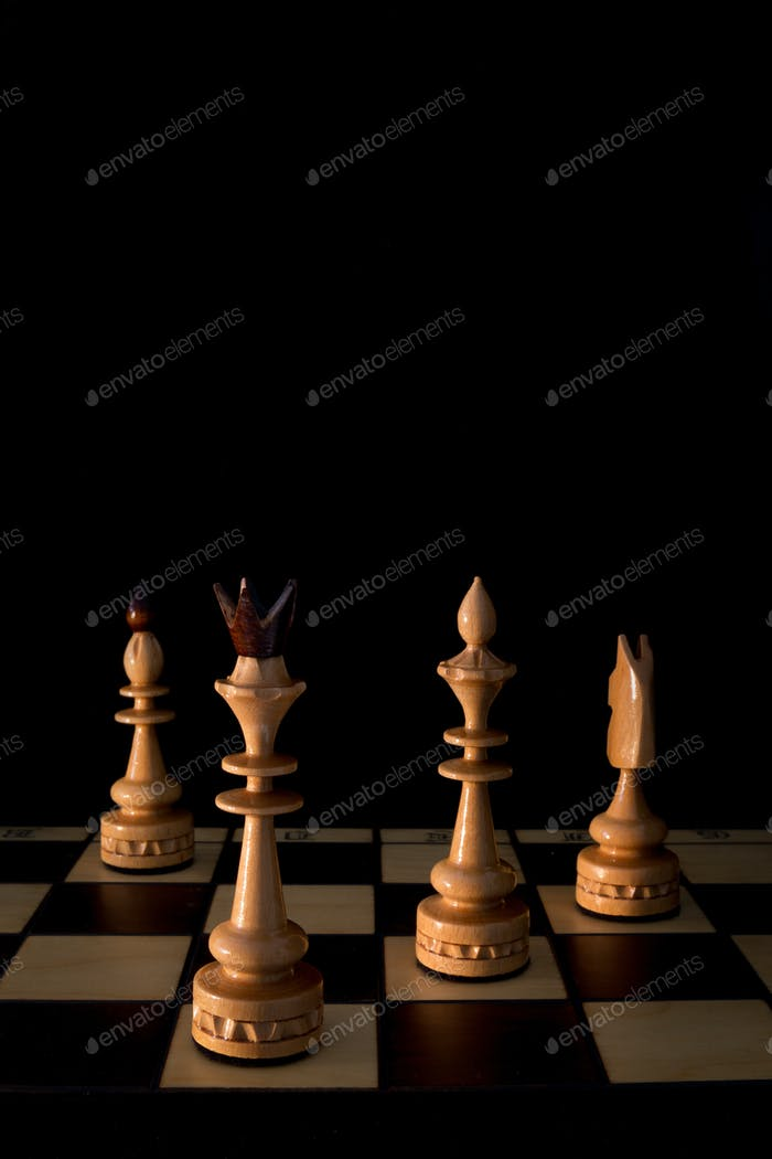 Chess board and pieces strategic game