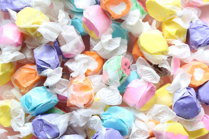 Saltwater taffy background
