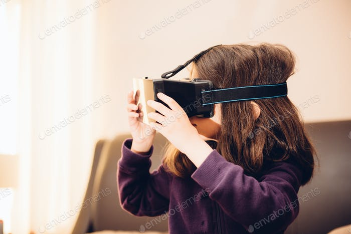 An awe inspiring immersive experience in wonderland of virtual reality. First time a kid enters a vi