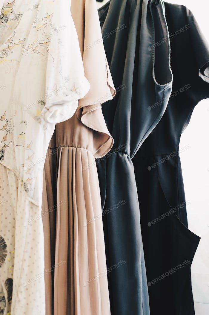 Pale color dresses