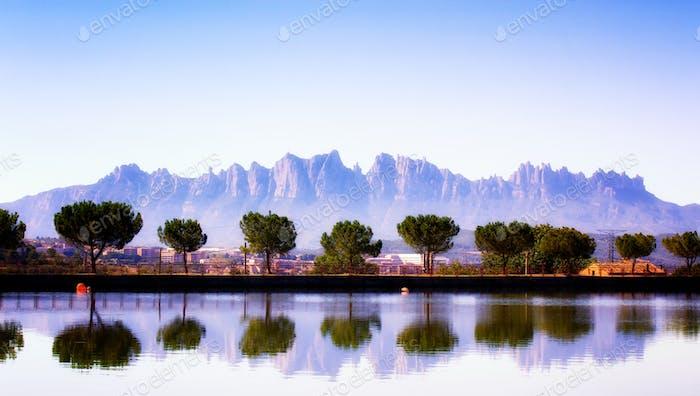 Montserrat moutains reflections
