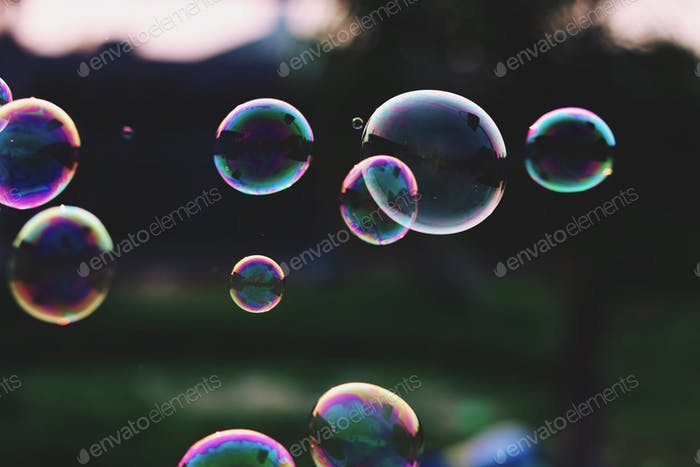 Close up of bubbles