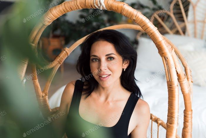 beautiful woman brunette portrait