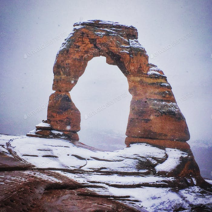 Snowy Delicate Arch