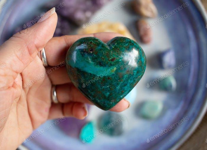 Chrysocolla gem stone