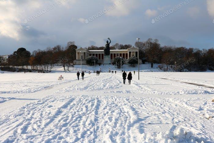 Munich on winter time