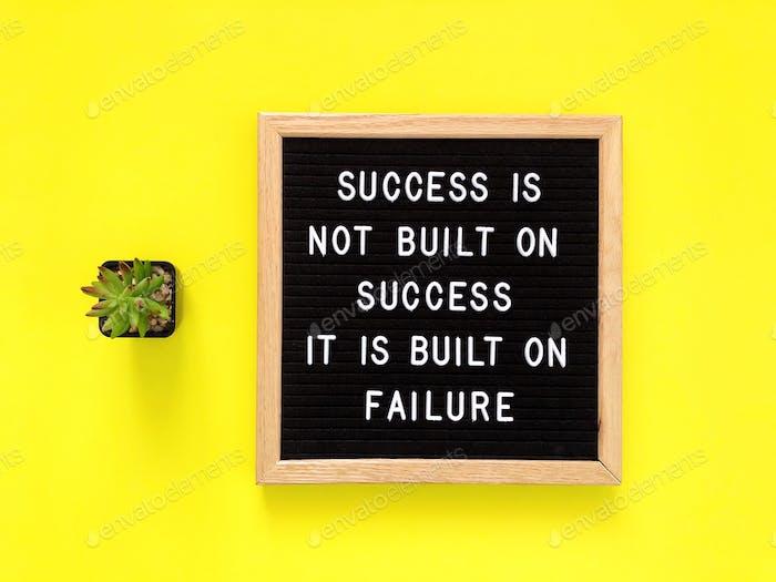 Успех не построен на успехе