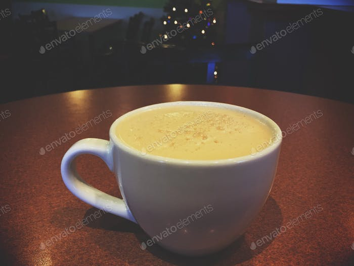 At coffee shop